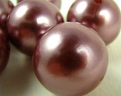 Brown Silver-ish Pearl Beads Huge Round Imitation Pearls 30mm Girls Bubblegum Beads