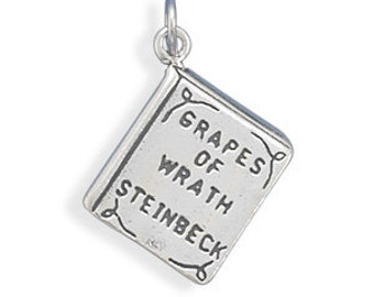 Grapes of Wrath Book Charm - 925 Sterling Silver