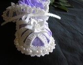 Pearled Baby Booties / Photos / Christening / Blesssing / Baptism