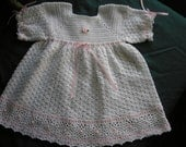 Baby  Dress / Easter / Crocheted / Christening / Photos / Special / Pearls /