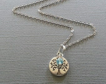 Tree of Life Birthstone Necklace