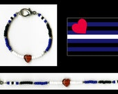 Gay Leather Pride Bracelet