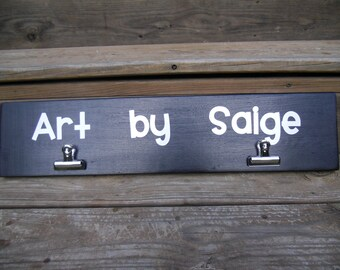 Children's Art Display Boards with Vinyl Lettering