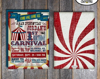 Carnival Invitation | Circus Invitation | Carnival Party Invitation | Circus Party Invitation | Carnival Circus Birthday Party | Printable