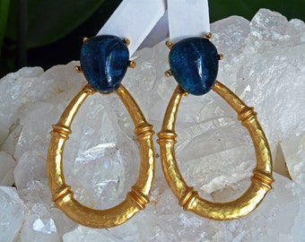 Gerrard Yosca vintage 12K plate designer knocker earrings