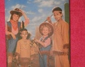 Butterick 6852,  costume , cowboys and indians, cowgirl, size: 4 to 14