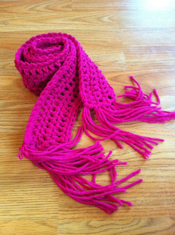 Crochet Scarf Children Pink by DesignsbyTiffanyJ on Etsy Crochet Scarf Kids