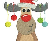 Instant download Reindeer of Christmas machine embroidery design
