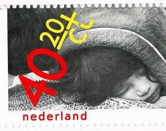 1979 Nederlands 40 & 20 Kinderpostzegel Stamp with Card, Netherlands Kinderpostzegelactie