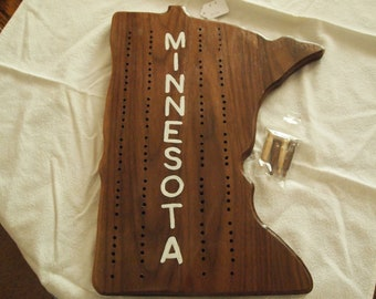 "Minnesota Cribbage Board  13"" high"