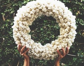 Burlap Wreath-White