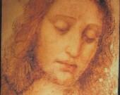 Printed Sew On Patch - Large Back CHRIST STUDY - Leonardo da Vinci 1452 -1519 The Last Supper