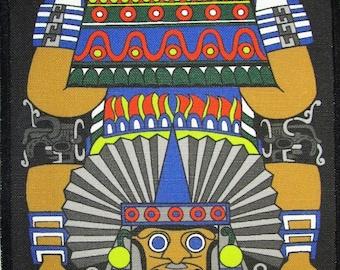 Printed Sew On Patch - AZTEC QUETZALCOATL-VENUS - Good Sized Patch