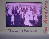 1950s Color Transparency - Tom Thumb Wedding - Vintage Church Archive Negative - Tulsa, OK - Set of 2