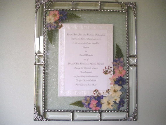 Wedding Gifts Usa: RESERVED For DEE Framed Wedding Invitation By