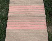 Hand-woven bulgarian colorful wool rug
