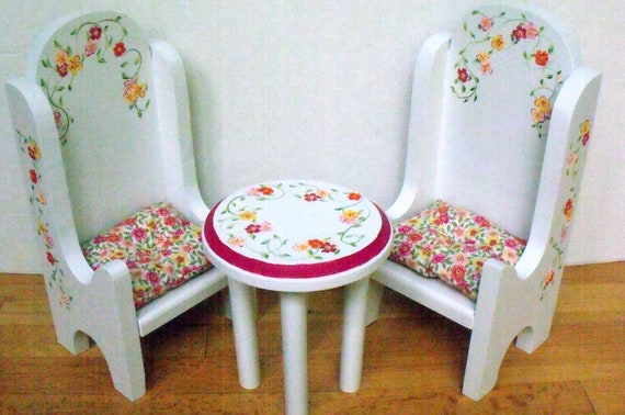 Table and chairs BISTRO DINING SET /American Girl doll furniture