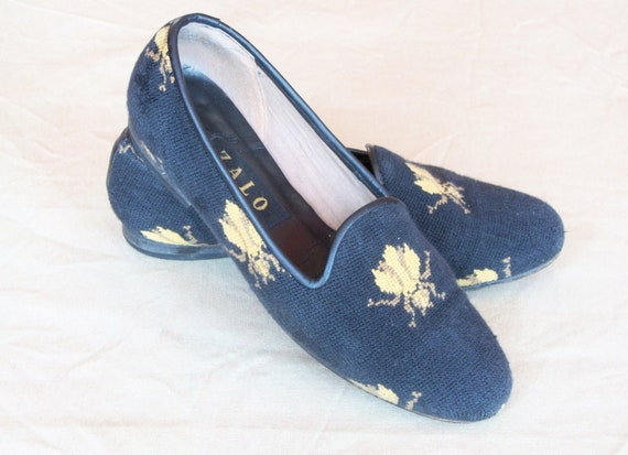 RESERVED FOR LAURA Spanish Made Needpoint Loafers with Bee Design