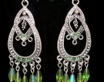 Peridot Swarovski Crystal Earring (E12)