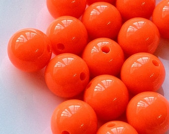 10 mm Opaque Color Round Shape Acrylic Candy Beads of Different Colors (.ma)