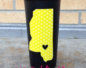 Southern Miss tailgating ACRYLIC tumblers - my heart belongs to .... personalized gift