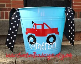 Personalized Childrens Bucket - Easter Gift, Children Storage, Catch All