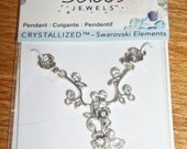 Jolee's Jewels Crystallized Swarovski Elements Silvertone Flower Floral Pendant Jewelry Making Supply