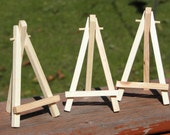 MINIATURE EASEL - Painting Display, Art Display, Wooden Easel, ACEO Painting Supply,