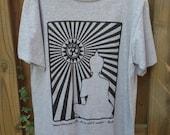 Buddha Peace Quote Mens Size Medium Organic Screenprinted Tshirt - Handmade by UniverSoulWear