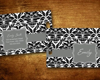 Luggage Tag - Damask Personalized Bag/Luggage Tag