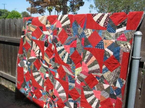 American vintege crazy quilt