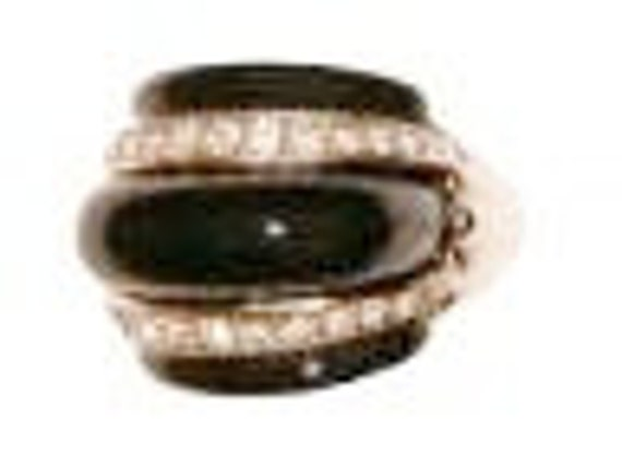 Kenneth Jay Lane Onyx and Diamond Faux Ring, KJL