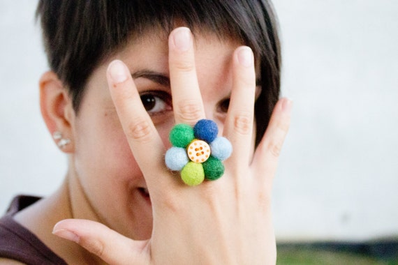 Flower Ring - Floral Ring - Statement ring