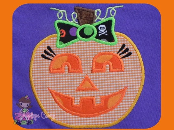 Girly jack o'latern Applique design