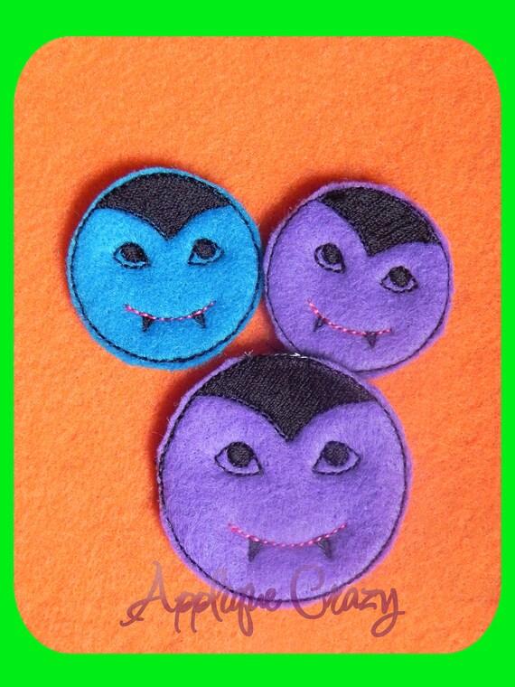 Vampire feltie embroidery design