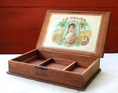 Vintage Cigar Box, Wood, La Palina