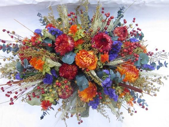 Thanksgiving Fall Dried Flower Centerpiece Arrangement