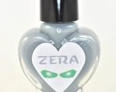 Zera Grey Creme with Green Shimmer Nail Polish 5ml Mini Bottle