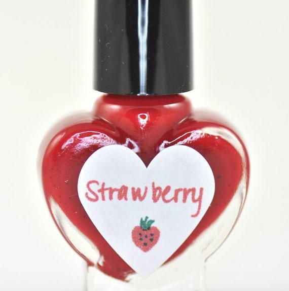 Strawberry Nail Polish 5ml Mini Bottle