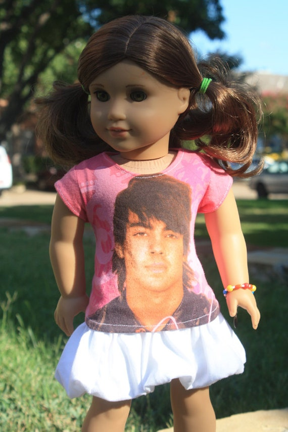 RESERVED American Girl Doll Joe Jonas Tee Shirt - Custom for Breanna