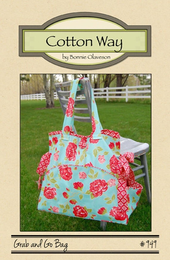 Grab and Go Bag by Cotton Way Tote Bag Pattern