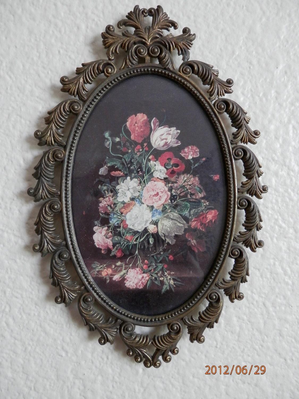 Frame Oval Victorian Frame Italian Metal Frame Ornate
