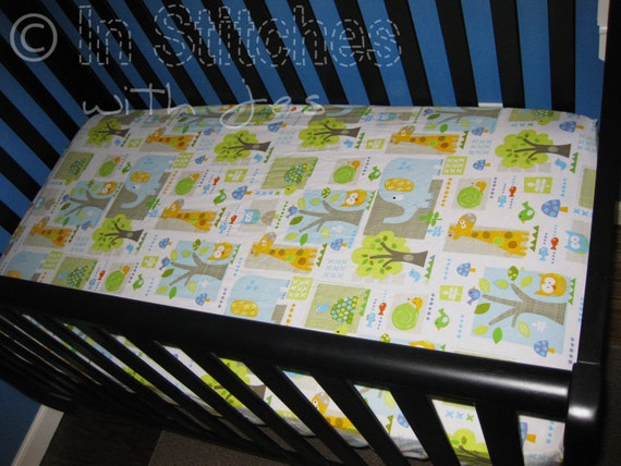 Jungle Themed Fitted Crib Toddler Bed Sheet By Institcheswithjes