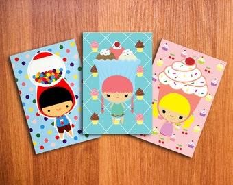 Dolci Bambini Postcard Set of 3 //SALE//