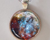 Universe Pendant Necklace - Merging Star Clusters in 30 Doradus  - Galaxy Pendant Series (G008)