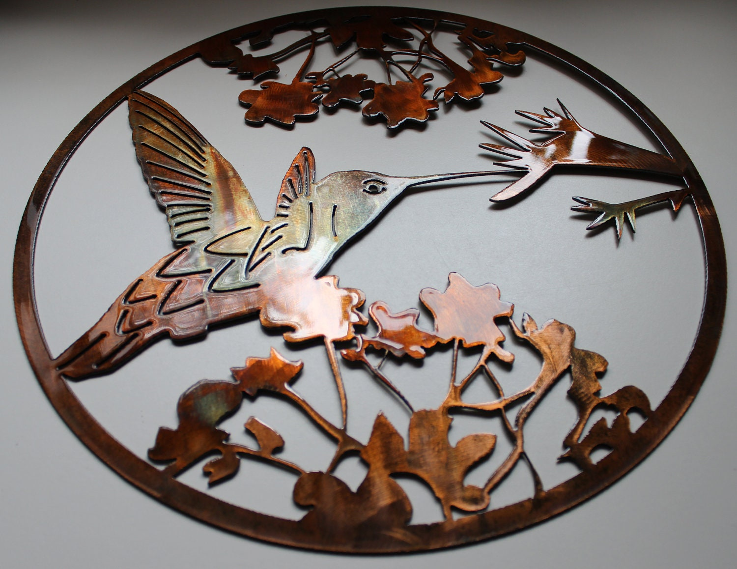 Hummingbird metal wall art decor by hgmw by for Hummingbird decor
