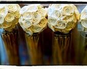 Five Small Rose Sola Flower Balls - Flower Girl, Wedding Decor, Pew Chair Aisle, Pomander, Centerpieces, Sola Flowers, Kissing Ball