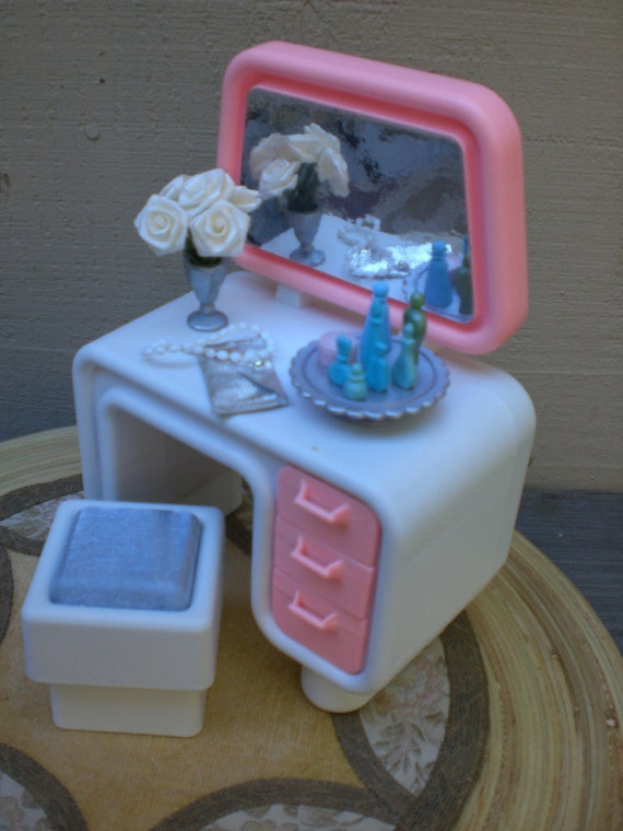 Barbie Doll House VANITY VIGNETTE Room Furniture & Accessories Bedroom