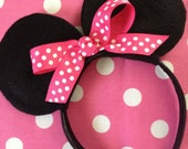 Minnie Mouse Ears - Birthday Party Favors - Disney Vacation - Costume Accessory - READY TO SHIP