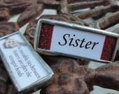 Sister Reversible Soldered Charm